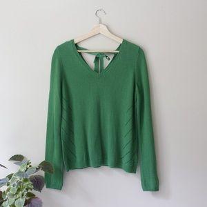 Anthropologie Moth Green Sweater Tie Back Medium